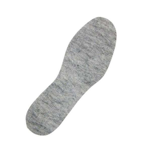 Einlegesohle - FILZ in Grau