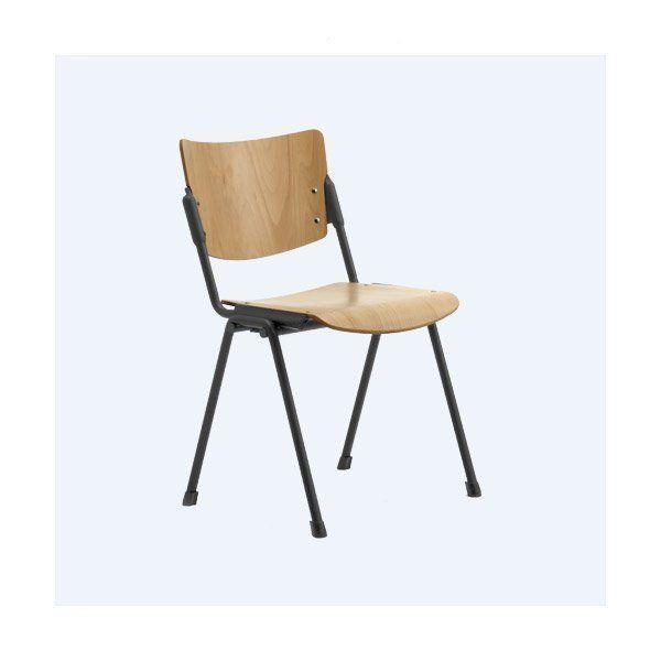 Stapelstuhl aus Holz