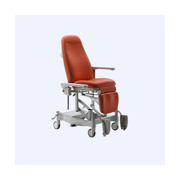 TX25 Pflege- und Transportstuhl, versch. Farben, Höhenvestellung 550-880mm Azur